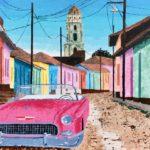 7 'Cuba' door Gonny Klein; 90 x 70; lenen voor 5,= per maand en te koop voor: 340,=