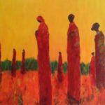 Nr.1 Africa: 100x70cm, acryl op doek, door Annie Scheepens, lenen voor € 5,00 per maand; te koop voor €350,00